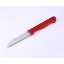 Stainless Steel Curved Blade Paring Knife, Fruit Knife with Plastic Handle